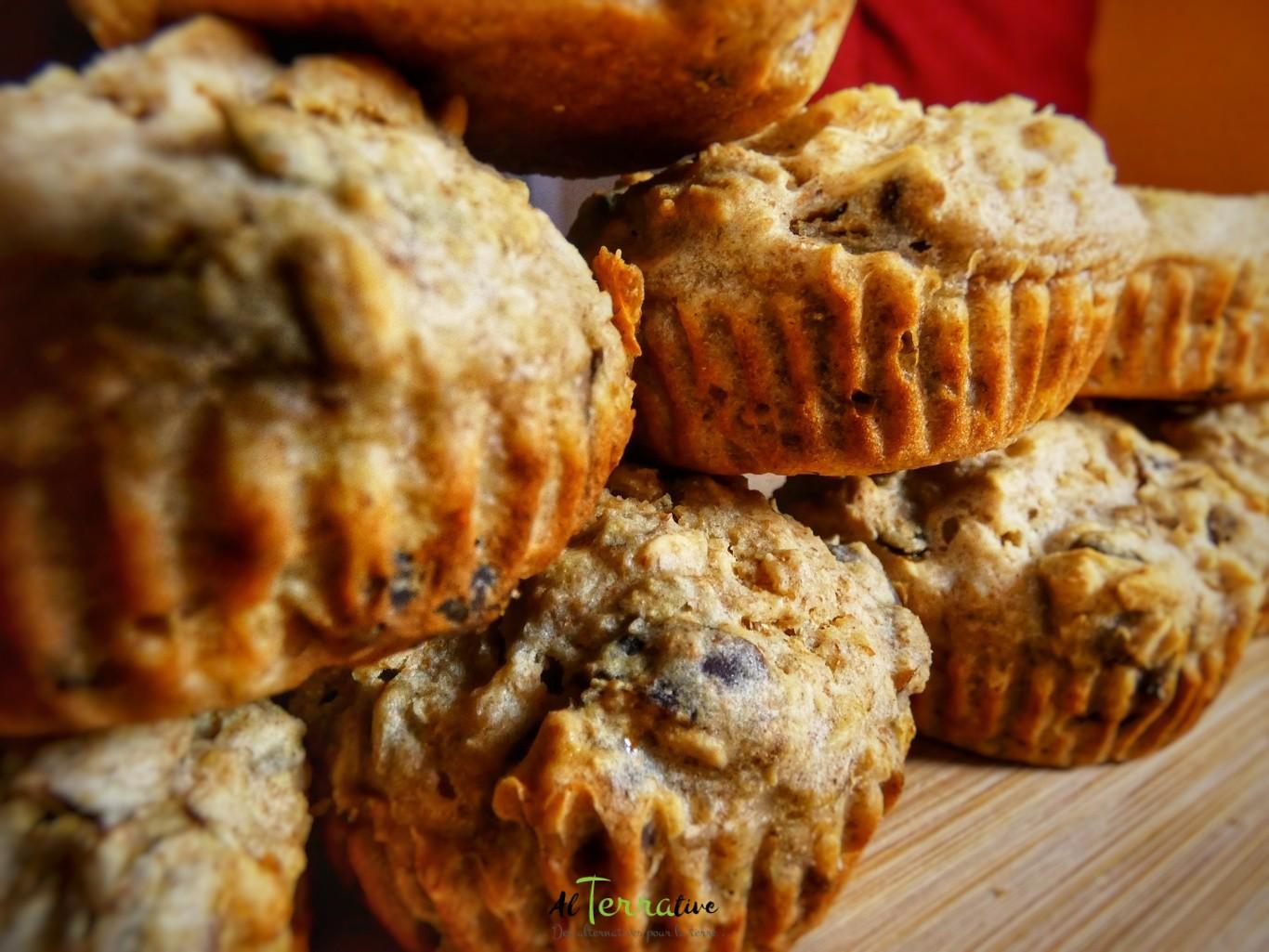 muffin du sportif avoine et dattes, un muffin santé
