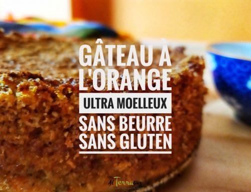 Gâteau à l'orange ultra moelleux santé, sans beurre, sans gluten… et avec quelques ingrédients seulement !