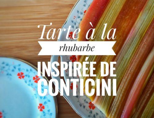 Tarte à la rhubarbe (inspirée de Conticini)